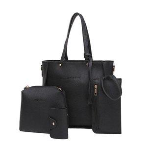 4pcs Woman Bag Set Casual Female Bags Tote Purse Handbag Four-piece Shoulder Bag Messenger Purse Sac A Main #LR4