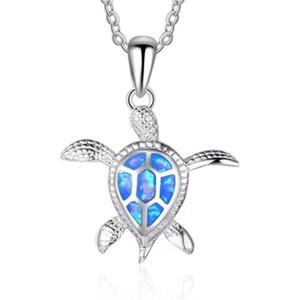 المعلقات قلادة العقيق هدية جديد أزياء الحيوان قلادة للنساء مجوهرات السلاحف القلائد مجوهرات