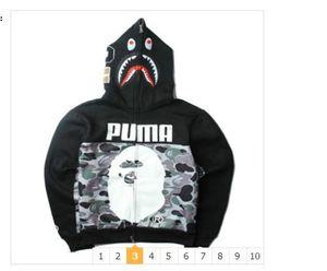 2020 Vestes Camo Shark Head Imprimer Men 'S Sweat de haute qualité Casual Outdoor Men' S Hoodies Livraison gratuite