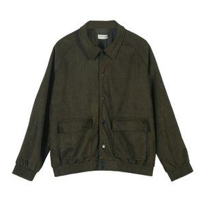 Mens Designer Fashion vestes Marque ARNODEFRANCE Army Green Cargo Jackets High Street Casual Outwear haute qualité M-XL