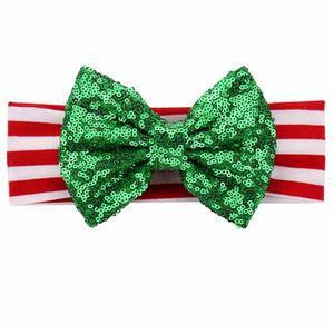 niños niño niñas banda de pelo de Navidad Vendas del brillo rojo de la chispa bebés verdes de santa accesorios para el cabello venda de los niños EEA706
