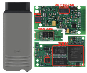 5054A ODIS V5.1.6 OKI كامل رقاقة بلوتوث لأودي لأداة تشخيص VW في صندوق بلاستيكي