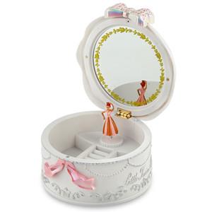 Mädchen Musikschmuckschatullen Ballerina Rotating Spieluhr Gramophone Spielzeug für Kinder Kinder Geburtstags-Geschenke