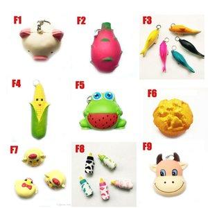Blando de juguete DHL rana torta animales squishies delfín de pollo maíz lento aumento de 10cm 11cm 12cm 15cm suave Squeeze niños Estrés regalo juguetes lindo