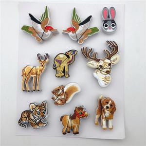 Mezcla bordado perro de caza animales gato hierro en divisa del remiendo Bolsa ropa tela de la aplicación para los niños varones