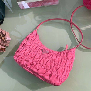 2020 ilkbahar ve yaz yeni pileli torba moda koltukaltı omuz çantası çanta kadın çantası