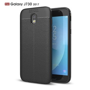 Slim Fit Ultra Thin Carbon Fiber Case for Samsung J730 Leather PU Soft TPU Silicone Rubber Bumper Shockproof Phone Back Cover