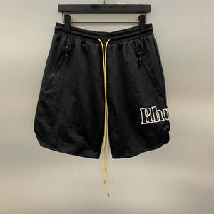 Praia Shorts Verão confortável Casual malha Shorts melhor qualidade cordão Zipper Side Pocket Letters Impressão