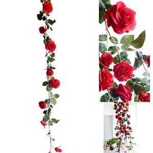 Fleur Artificielle Fleurs En Soie Rose Feuille Guirlande De Vigne Lierre Maison Mariage Jardin De Fleurs Halloween Fleurs De Noël Deoration