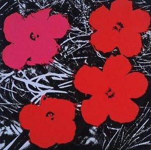 Célèbre Andy Warhol Fleurs Peint À La Main HD Imprimé Abstrait Art peinture à l'huile, Wall Art Décor À La Maison Sur Haute Qualité Toile Multi Tailles a99