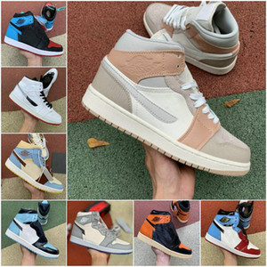 fashion Mens basketball shoes 1s high og Obsidian UNC to Chicago Pine Turbo Green Travis Scotts Bloodline 1 jumpman men women sports sneaker