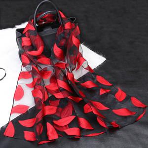 Шелковый шарф женщин Summer Breeze Легкий Sheer Wrap органзы марли шарф S9076 Y200103