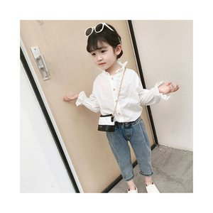 2020 girls spring new children's ear edge stand collar shirt, baby doll sleeve shirt. The shirt is so comfortable.