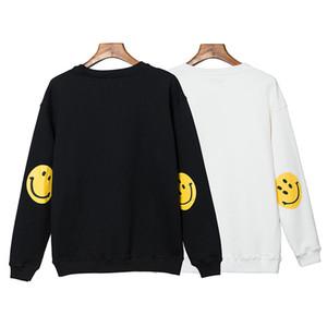 جديد KAPITAL مصمم رجالي هوديس التعادل صباغة مبتسم مطبوعة الهيب هوب نمط فضفاض بأكمام طويلة مقنع بلوزات أزياء الرجال هوديس WE-9106