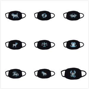 maschere antipolvere Constellation Viso Bocca Maschera Maschera riutilizzabile cotone traspirante di protezione fumetto adulto Carino anti-polvere Bocca Volto