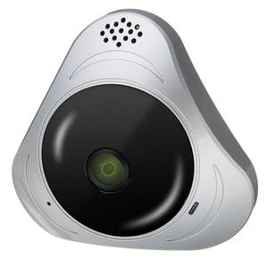 360 ° Panoramik Monitör 3D VR Balık Gözü Wifi IP Kameralar Güvenlik Gözetleme Ev - Gri