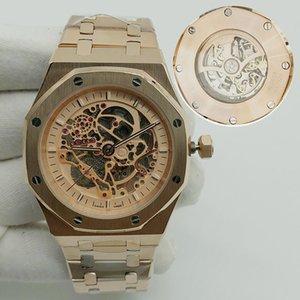 Beste Art der Männer super cool Uhren Beste Luxuxschmucksachen Uhrmens Armbanduhr-automatische Uhren Designer mechanische Uhr ausgehöhlt