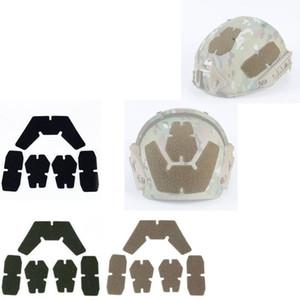 5pcs Tactical Helmet DIY Loop Loop Padding Fastener Stickers Patch Set for AF Sytle