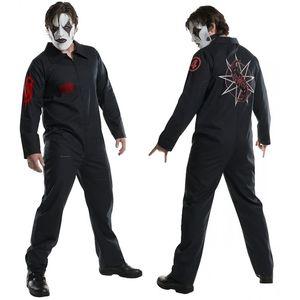 SlipKnot Printed Men Cosplay Costume Halloween Hiphop Mens Jumpsuits Theme Costume Male Apparel