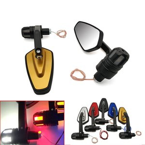 XP500 XP530 Keeway TX125 모험 닌자 250의 경우 전원을 켜고 LED 신호 빛과 오토바이 핸들 거울