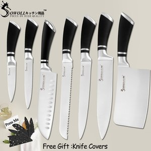 Kitchen Knives Stainless Steel Knives Paring Utility Santoku Bread Slicing Chef Chopping Knife Cooking Accessory Tools