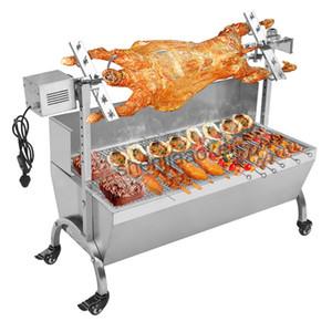 máquina de acero inoxidable parrilla de barbacoa de carbón cerdo Spit Asador Asador Barbacoa eléctrica de múltiples funciones parrilla de la barbacoa 220v