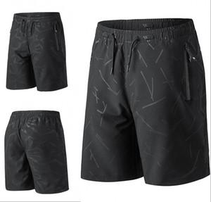 US Stock Мужские шорты черные повседневные свободные шорты короткие брюки спортивный бег длина до колен летние открытые Мужские шорты спортивные брюки FY9112