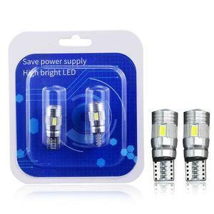 Winsun 2x T10 W5W LED поворота автомобиля лампа сигнала Canbus Auto Interior Dome Light Reading Клин Боковые парковки Обратный Brake Lamp 5W5 5630 6SMD