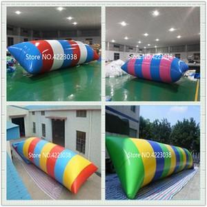 Ücretsiz Kargo bir Pompalı 9 * 3m Şişme Trambolin Inflatabler Su Blob Jump Su Trambolin Su Blob