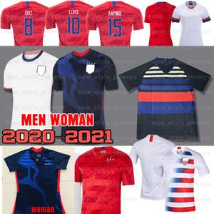 2020 메간 래 피노 미국축구 유니폼 USWNT 8 JULIE ERTZ 알렉스 모건 칼리 로이드 오하라 경기장 복제를 누르 여성 유니폼을 호흡