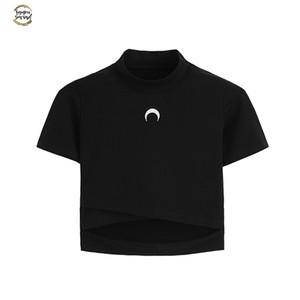 Bruja Luna gótico camisa de las mujeres camisetas Luna Tops ¡Para gótico de la muchacha en colores pastel gótico Estética ropa corta de algodón camiseta del inconformista