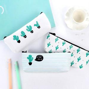 Портативный Cactus пенал сумка для хранения цифрового USB Gadget Charger Провод Cosmetic Pouch Канцтовары Дело подарки Pencilcase сумка