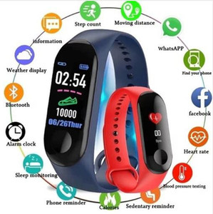 M3 Smart Bracelet Fitness tracker Smart Watch with Heart Rate Waterproof Bracelet Pedometer Wristband For IOS and Android Retail Packag