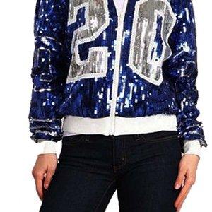 Греческое молнии с длинным рукавом спортивный биту рукавами Sorority Zeta Phi Beta Вдохновленный 20 ZPB Sequin куртки