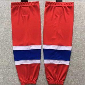 Kinder Jugendliche Männer Eishockey Socken Trainingssocken 100% Polyester Praxis Socken Hockey-Ausrüstung rot