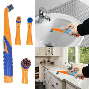 Electric Spin Scrubber 360 Tile Scrubber with 4 Replaceable Cleaning Brush Heads Extension Handle for Bathroom Kitchen, Floor
