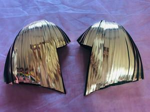Détails sur Metallic perruque Cosplay Head Mirror Mask Gogo Dance Casque DJ Miroir pour Party