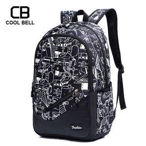 Waterproof Oxford Fabric School Backpacks For Boys Print School Bags For Girls 17 Inch Laptop Backpack For Teenagers Schoolbag Y200107