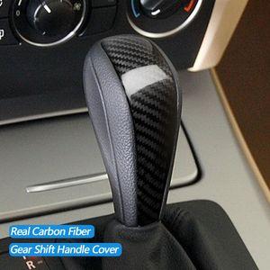Etiquetas engomadas de la cubierta del manguito de la manija de la manija del cambio de fibra de carbono real para BMW 1 3 Series E90 E92 E93 E87 X1 E84 Auto Accesorios interiores