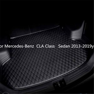 For Mercedes-Benz CLA Class Sedan 2013-2019year s Car Anti-skid Trunk Mat Waterproof Leather Carpet Car Trunk Mat Flat Pad