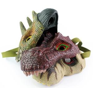 Dress Up Latex Dino Party Masken Scary Halloween Maskerade Maske für Kinder Erwachsene Fnacy Kleid Cartoon Tier Hüte Assorted Design