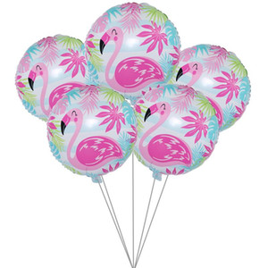 5pcs Hawaii Flamingo Party Foil Ballon de mariage Décorations de fête d'anniversaire Décorations Diy enfants Baloon baby shower Party événement