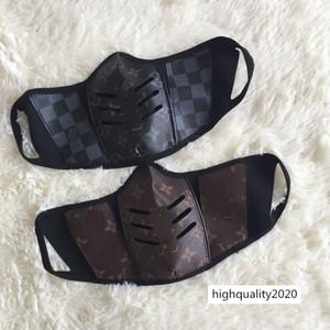 concepteur masques de protection anti-poussière en stock haute qualité lettre logo masque de couverture de la bouche avec la boîte