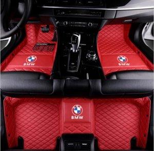 Für Passform Luxuriöse benutzerdefinierte Für BMW 740i 740Li 750i 750Li 760Li Auto Fußmatten 2004-2018 Wasserdicht Wasserdichter Pad Auto Teppich