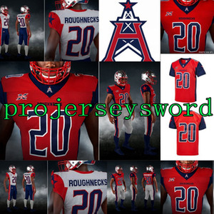 2020 Houston Roughnecks Jersey Connor Nick Cook Holley Phillip Walker Andre Williams Akrum Wadley Marquez Williams XFL Maillots de football
