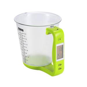 Taza de medición Escalas de cocina Cubilete digital Libra Escala electrónica de herramientas Leche en polvo con pantalla LCD Tazas de medición de temperatura Nuevo