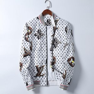 2020 Fashion Jacket Windbreaker Long Sleeve Men's Jacket Hoodie Clothing Zipper with Animal Alphabet Pattern Plus Size Clothes