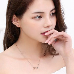 100 Language I Love You Projection Clavicle Chain Pendant Romantic Necklaces