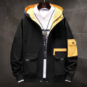 Mens Jacket Brand Casual Autumn 2019 New Spring Autumn Jacket Two Color Available Casual Fashion Windbreaker Luxury Hoodie Jacket