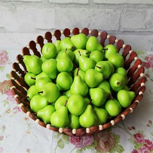 100pc Artificial Mini Pear Simulation Fruit Fake Apple House Kitchen Props Decor